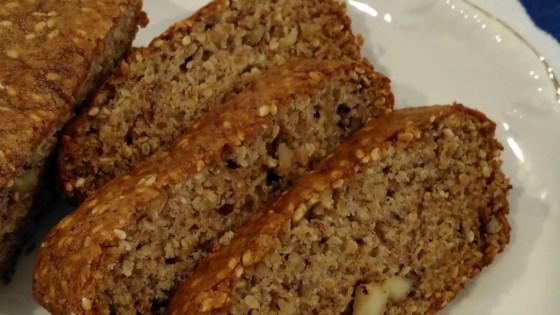 Black Sesame and Walnut Banana Bread