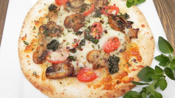 Individual Mushroom Tortilla Pizza