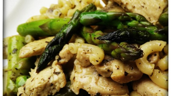 Photo of Chicken, Asparagus, and Mushroom Skillet by grneyedmustang