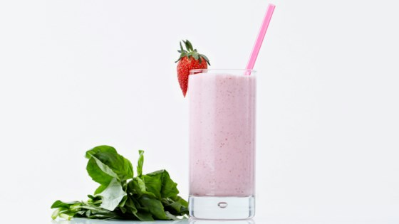 Photo of Strawberry Basil Milkshake by Bite Me More