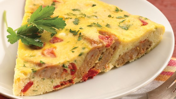 Photo of al fresco Roasted Pepper and Asiago Chicken Sausage Frittata by al fresco
