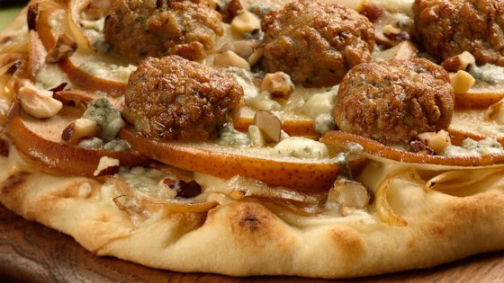 Photo of Caramelized Onion Meatballs Pizza with Apple & Gorgonzola by al fresco