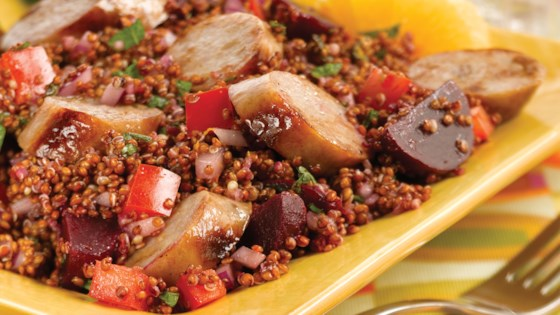 Photo of Inca Red Quinoa Salad with Sweet Apple Chicken Sausage by al fresco