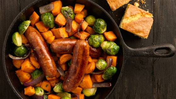 Photo of Smoky Skillet with Brussels Sprouts & Sweet Potato by al fresco