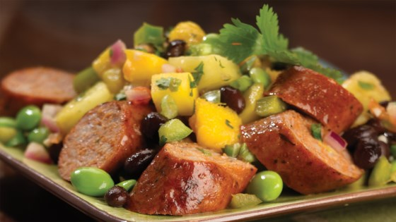 Photo of Spicy Jalapeno Chicken Sausage with Mango, Pineapple Salsa by al fresco