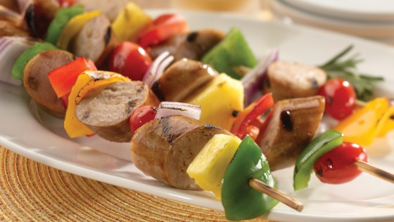Photo of Sweet Apple Chicken Sausage Kabobs by al fresco