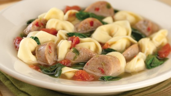 Photo of Sweet Italian Chicken Sausage and Tortellini Soup by al fresco