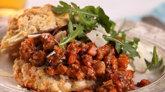 Photo of Pork Sausage Bolognese with Cheddar Biscuit by Farmland Foods