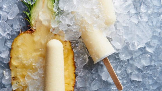 Photo of Ginger-Pina Colada Ice Pops by Witandvinegar