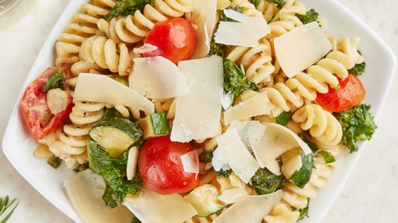Photo of Creamy Summer Pasta Salad with BelGioioso Shaved Parmesan by BelGioioso
