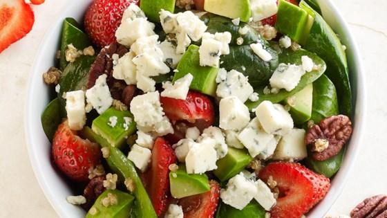 Photo of Crumbly Gorgonzola Strawberry Quinoa Salad by BelGioioso Cheese