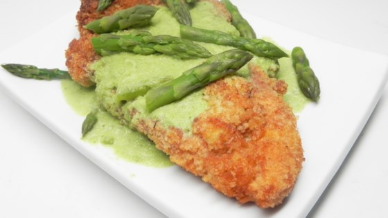 Photo of Creamy Asparagus Sauce with Chicken Schnitzel  by julesrollo