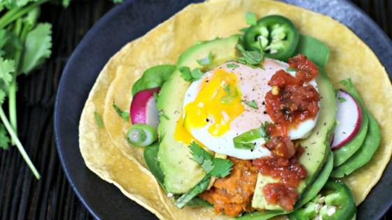 Photo of Sweet Potato-Pinto Bean Breakfast Taco by Culinary Envy
