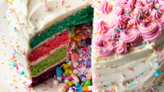 Photo of Rainbow Pinata Cake by Sally's Baking Addiction