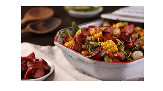 Photo of Sweet Corn Succotash with Smoked Sausage by Pure Farmland