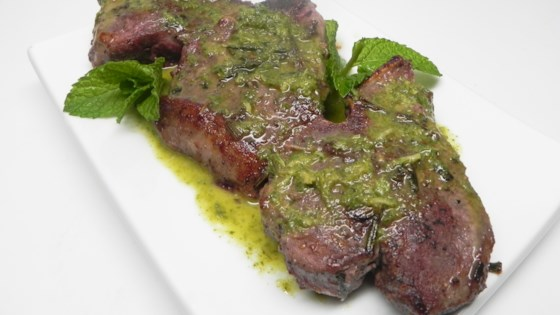 Lamb Chops with Mint Oil