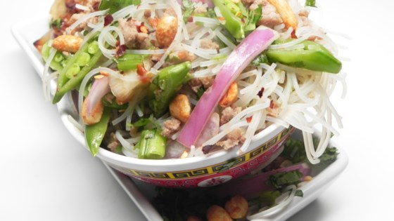 Photo of Asian Rice Noodle Salad by Lally