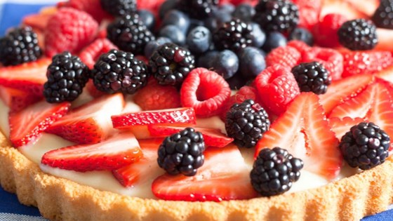 Photo of Summer Fruit Tart from Almond Breeze® by Almond Breeze