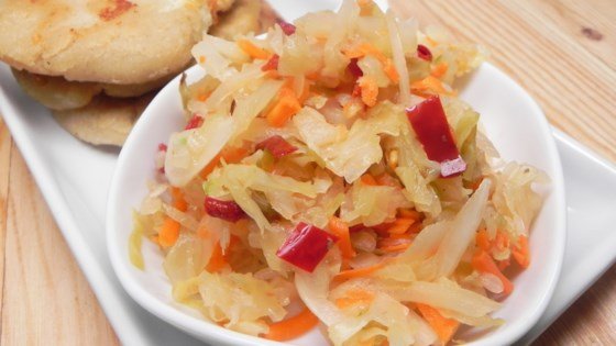 Photo of Curtido (Salvadoran Pickled Slaw) by Nahum and Brandi