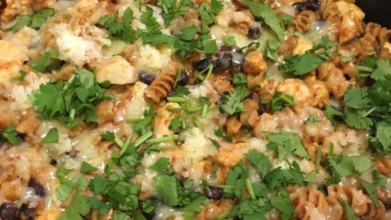 Photo of Cheesy Chicken Enchilada Pasta by apk979