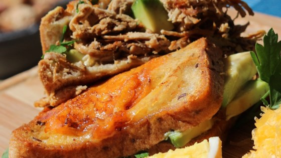 Photo of Tex Mex Ultimate Carnitas Grilled Cheese by Julie Hubert