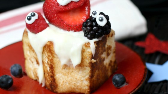 Photo of Toasted Angel Food Cake with Strawberries by Culinary Envy