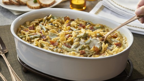 Photo of Bacon & Cheddar Green Bean Casserole by Del Monte