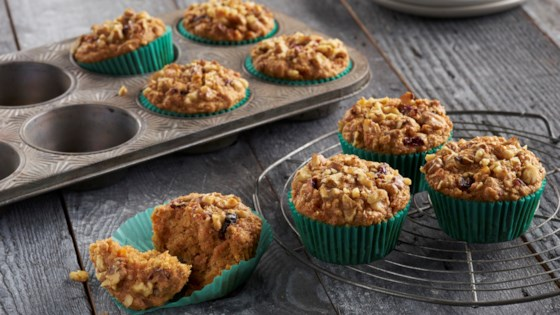 Photo of One-Bowl Carrot Oat Muffins by Del Monte