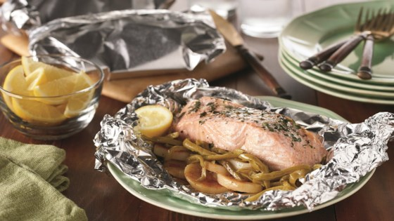 Photo of Grilled Salmon Supper in Foil by Del Monte