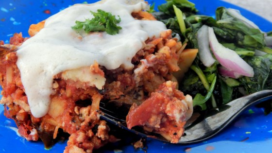 Photo of Paleo Turkey Sweet Potato Casserole With Eggplant and Tomato by Megan Olson