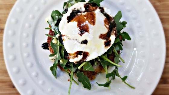 Photo of Hash Cake Eggs Benedict with Balsamic Glaze by Elizabeth