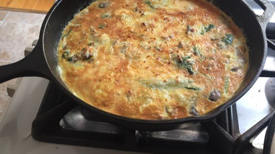 Photo of Bacon and Potato Frittata with Greens by Chef John
