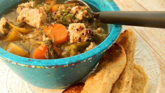 Photo of Quinoa Tofu Super-Soup for Cold Season by TheRecycleChef
