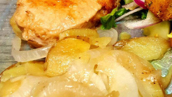 Photo of Skillet Pork Chops with Potatoes and Onion by chefjenwin