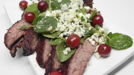 Photo of Grilled Flank Steak with Grapes and Stilton by AshleyJohnson