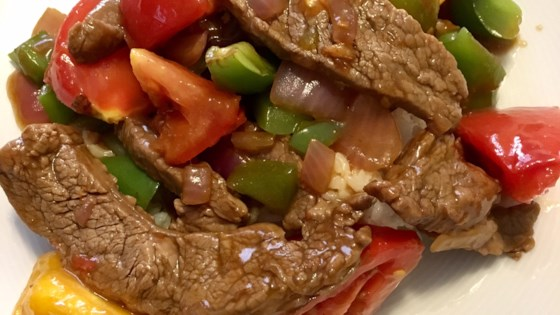 Chinese pepper steak recipe allrecipes photo of chinese pepper steak by kim wilson forumfinder Choice Image