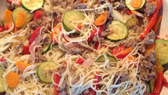 Photo of Linguini with Vegetables by Margaret Rolfe