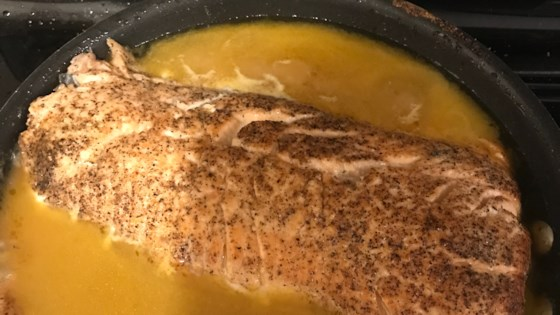 Orange Salmon with Creole Seasoning