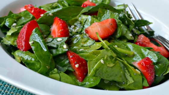 Photo of Spinach and Strawberry Salad by JerJer