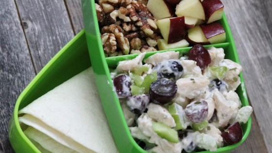 Photo of Waldorf Chicken Salad Wrap Bento Box by fabeverydayblog