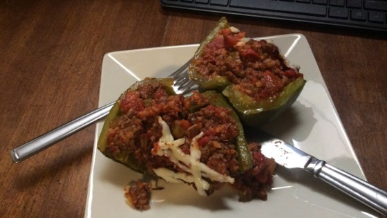 Photo of Stuffed Peppers with Frozen Cauliflower Rice by G D (M)