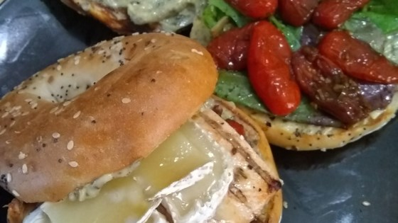 Chicken and Brie Sandwiches with Roasted Cherry Tomatoes
