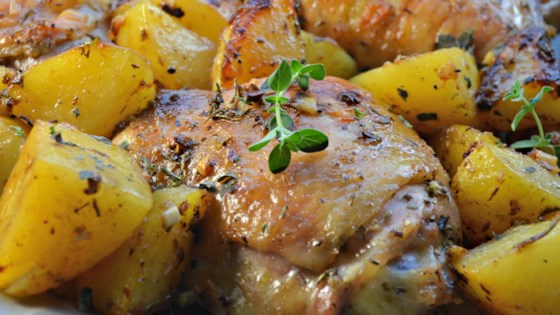 Greek Lemon Chicken And Potatoes Recipe Allrecipes