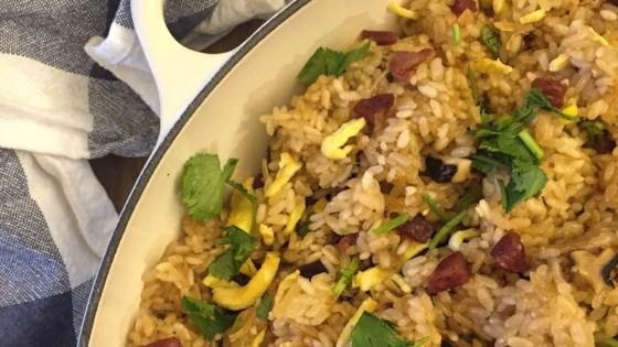 Photo of Chinese Stir-Fried Sticky Rice with Chinese Sausage by hello angie