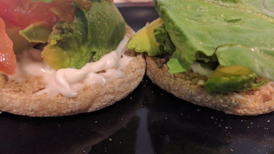 Photo of Vegan Open-Faced ALT (Avocado, Lettuce, Tomato) by Sarah Stensberg