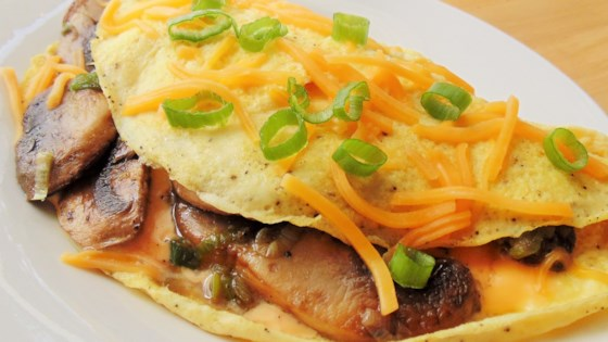 Mushroom, Scallion, and Cheese Omelet
