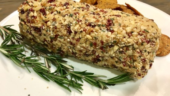 Photo of Vegan Cashew Cheese Rolled in Cranberries and Nuts by Rita