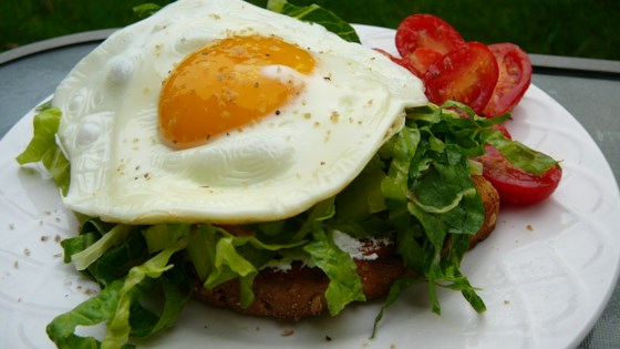 Photo of Open Faced Egg Sandwiches with Arugula Salad by Joy