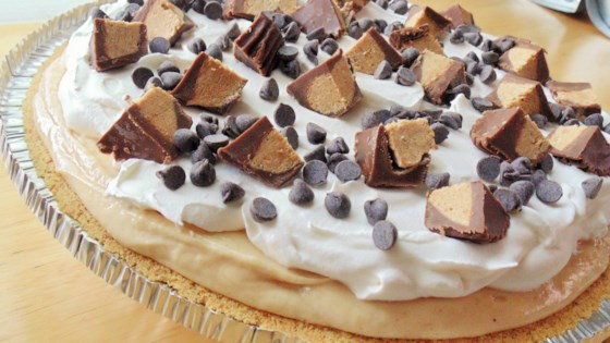 Photo of No-Bake Peanut Butter/Chocolate Pie by dan4th1