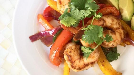 Photo of Sheet Pan Shrimp Fajitas by Jen Cooks For Fun
